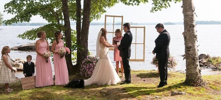 Wedding on Ambajejus Lake
