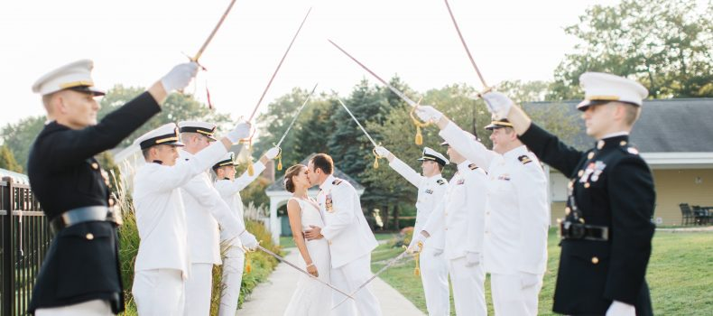 Falmouth Country Club Navy Wedding