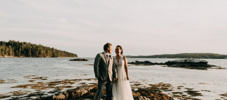 Backyard Wedding In Coastal Maine