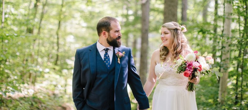 Fall Camp Wedding at Kingsley Pines