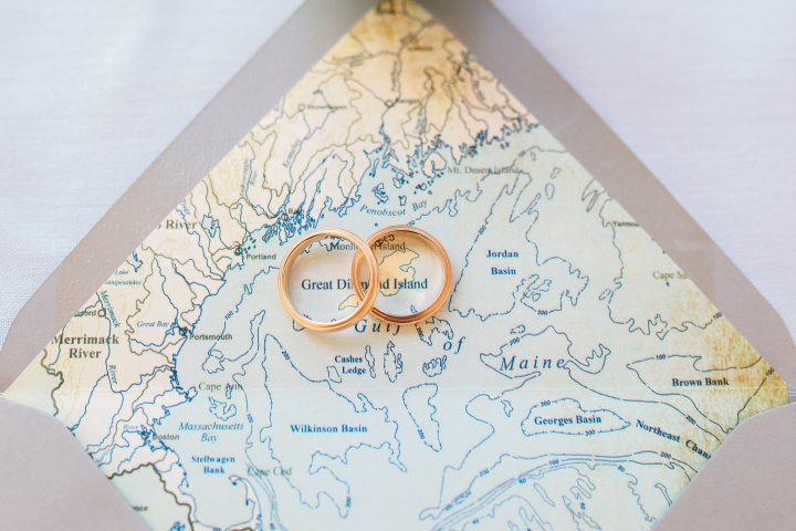 Maine Island Wedding Band